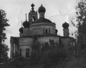 Храм Успения Божьей Матери(на кладбище) с алтарной стороны.Фото 60-х годов ХХ века.